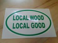 Local Wood Local Good VWA sticker