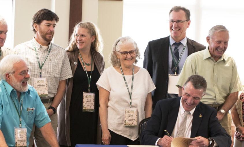 Bill signing with Shumlin