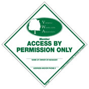 Access by Permission Only VWA sign