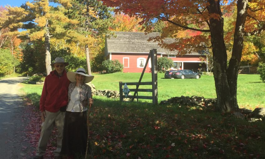 Peter and Julie Parker at their tree farm in Granville, VT