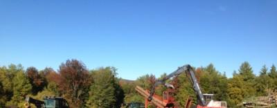 Harvesting equipment on an active logging job