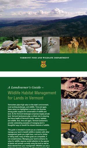 Book cover: Wildlife habitat management, a landowner guide